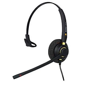 Headset for Polycom VVX 101, VVX 201, VVX 300, VVX 301, VVX 310 & VVX311 VoiP Phone + Free RJ9 Connection Lead - QD002…