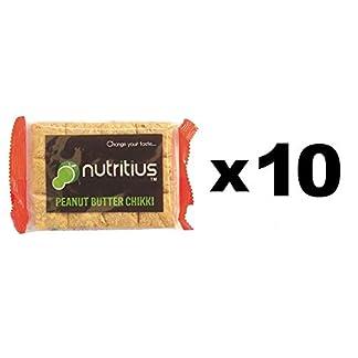 Nutritius Peanut Butter Chikki, 125g (10 Packs) – Family Pack 31MBJxE6UrL