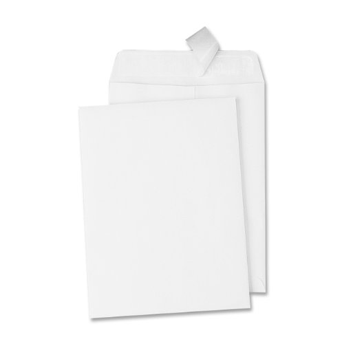 Quality Park, Catalog Envelope, Redi-Strip, White, 6x9, 100 per box (44182) (White Self Sealing Catalog Envelopes)