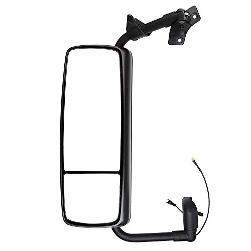 (ECCPP Rear View Mirror, Driver Side Truck Mirror fit 2008-2019 Volvo VNL with Power Operation, Heated, Arrow Signal, Black Housing Left Side Car Mirror)
