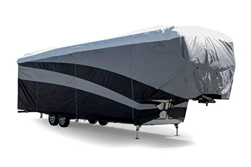 Camco ULTRAGuard Supreme RV Cover-Extremely Durable Design Fits Fifth Wheel Trailers 40' -44', Weatherproof with UV Protection and Dupont Tyvek Top (56154)