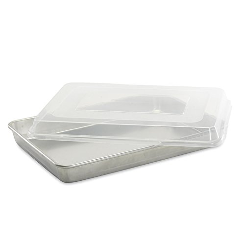 Nordic Ware Natural Aluminum Commercial High-Sided Sheet Cake Pan with Lid image