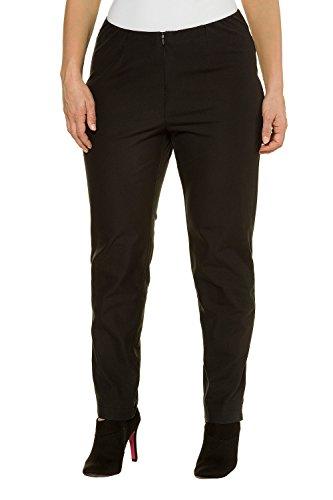 Ulla Popken Women's Plus Size Slim Fit Fitted High Stretch Pants Black 26 704637 10 (Front Plain Week Pants)