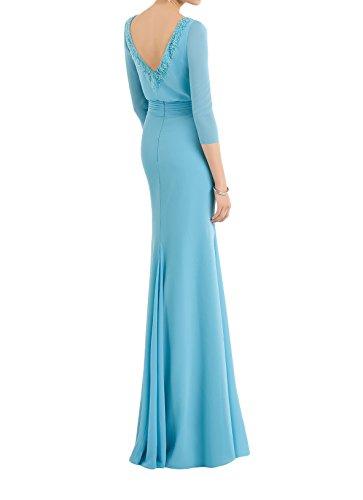 La Brautmutterkleider Braut Lilac Bodenlang Abendkleider Perlen Blau Ballkleider Hell Marie Etuikleider Mit rZTwqar