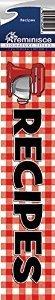 Reminisce Signature Series Recipes Scrapbook Title Sticker - Recipe Scrapbook Stickers