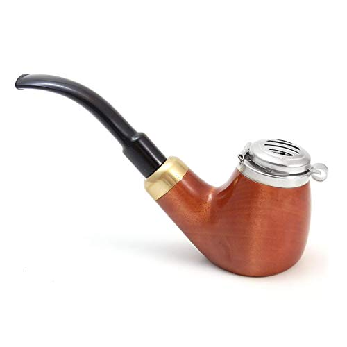 Mr. Brog Full Bent Smoking Tobacco Pipe - Model No: 21 Old Army Pecan - Pear Wood Roots - Hand -