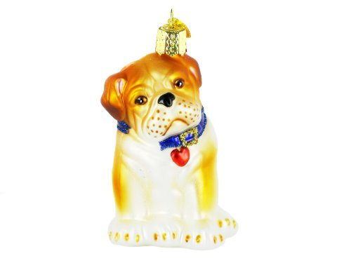 - Old World Christmas Ornaments: Bull Pup Glass Blown Ornaments for Christmas Tree