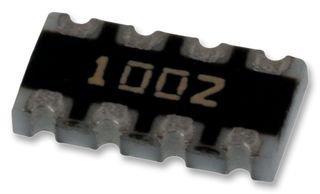 100 pieces Resistor Networks /& Arrays 10K 1/% Concave 4resistors
