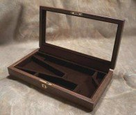 Glass Top Walnut Display Case for Colt Army or Navy Cap and Ball Revolvers. by Cimarron (Image #1)