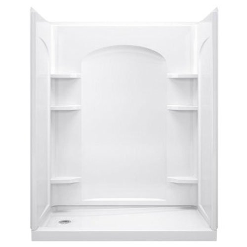Shower Wall Kit - STERLING, a KOHLER Company 72232100-0 Ensemble Vikrell 60-In X 72-1/2-In Shower Back Panel, White