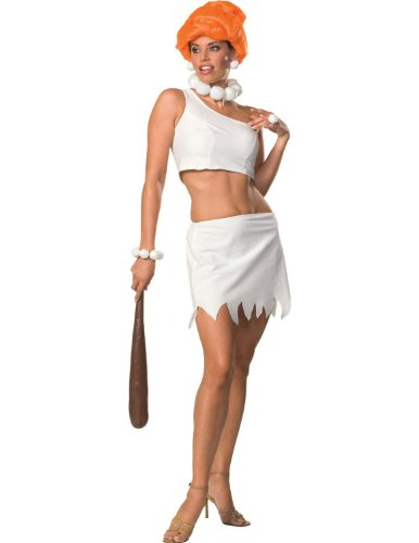 Flintstones Bamm Bamm Costumes (Secret Wishes Women's The Flintstones Sassy Adult Wilma Flintstone Costume, Multicolor, Medium)