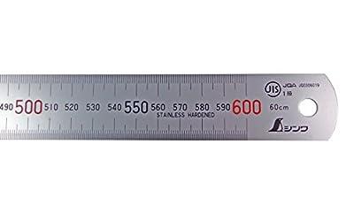 "Shinwa 600 mm Rigid ""Zero Glare"" Metric Machinist Rule/Rule Scale .5mm & mm by Shinwa Japanese Measuring Tools"