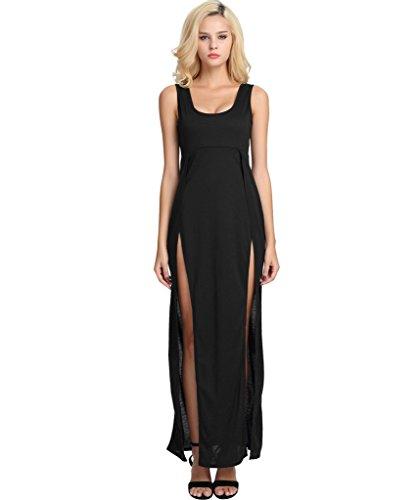 high side splits maxi long dress - 3