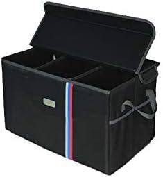 Mynew Fit Für Auto Kofferraum Organizer Auto Kofferraum Tidy Organizer Faltbarer Cargo Storage Container Mit Seitentaschen Tragbare Multi Fächer Für Auto Wasserdicht Auto