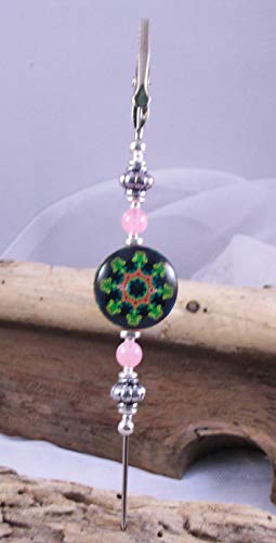 CleanWix-Green Mandala-Bracelet Helper, Bracelet Buddy, Bracelet Connector, Alligator Clip ()