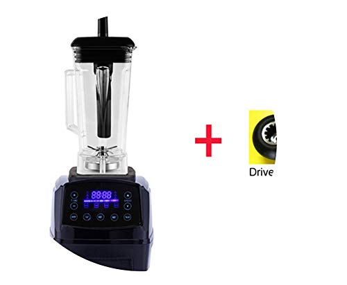 Automatic Digital Smart Timer Program 2200W Heavy Duty Power Blender Mixer Juicer Food Processor Ice Smoothie Bar Fruit,Black Extra Driver,Au Plug