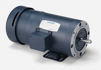1/2 hp 1725 RPM 56C Frame TEFC C-Face (Rigid Base) Brake Motor 208-230/460V Leeson Motor # 114154 C-face Brake Motor