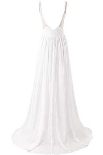 Missdressy -  Vestito  - Scollatura dietro - Donna bianco 44