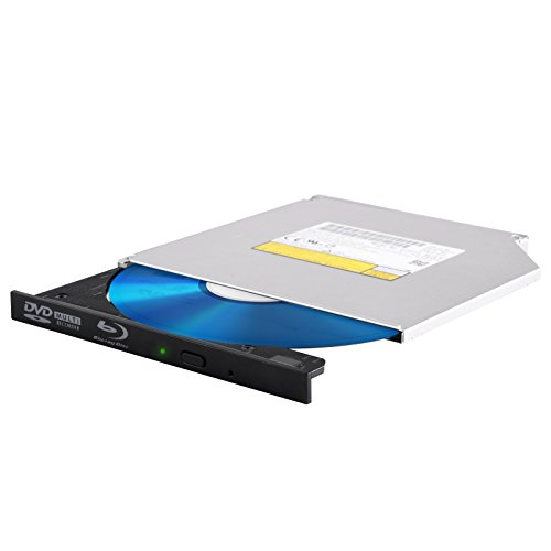 SilverStone Technology Tray Loading 9.5mm Blu-Ray/DVD/CD Read and Write Drive with 12.7mm Bezel - Ray Xl Blue