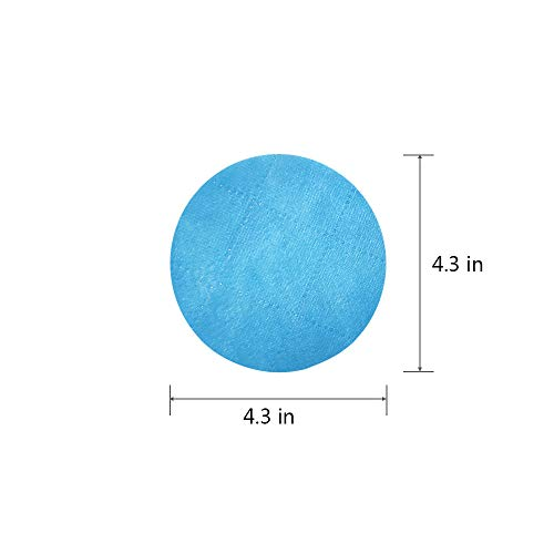 AEEHFENG Protective Face Mask Filters Replacement Pad,Isolation Anti-Haze Filters Dust-Proof Breathable Combination Cotton Filter,3 Layers Air Filtration,50 Filters,Round