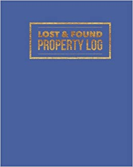 lost found property log blue organizer template for all lost