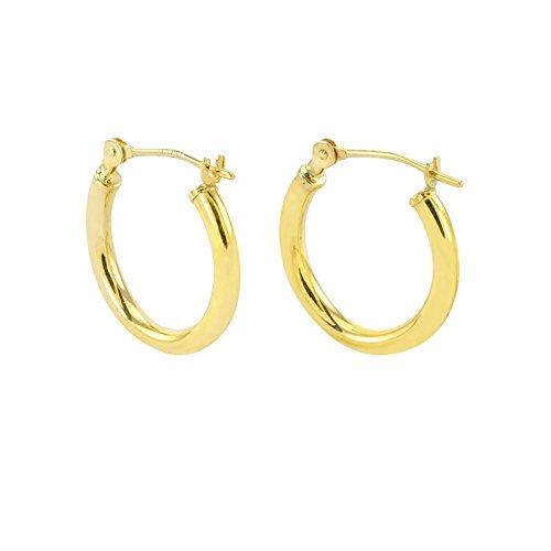 Tiny 14k Gold Extra Small Hoop Earrings (12mm Diameter)