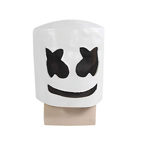 Halloween Latex Helmet Hard Mask DJ Marshmello Party Props Mask -