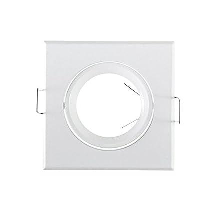 Aro embellecedor cuadrado orientable para halógenos (Inox): Amazon.es: Iluminación