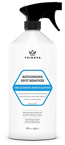 Carpet Spot Remover Spray - Best Cleaner for Stains on rugs, upholstery, fabric and more. Red wine eliminator and eraser for most surfaces. 18oz trinova