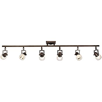 Amazon globe electric samara 3 light track light brushed pro track chace 50quot wide 6 light complete aloadofball Image collections