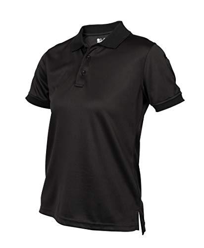 LA Police Gear Women's Anti Wrinkle Tactical Recon Jersey Polo Shirt-Black-S