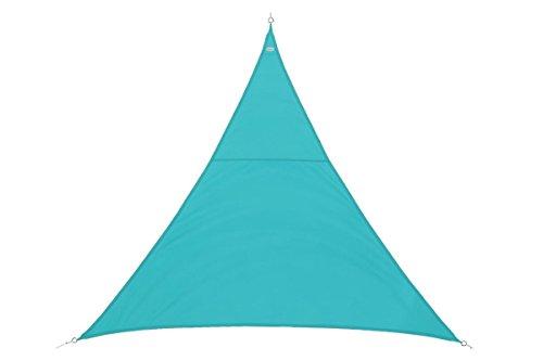Toile solaire Voile d'ombrage triangulaire 2 x 2 x 2 m en tissu déperlant - Coloris BLEU Lagon