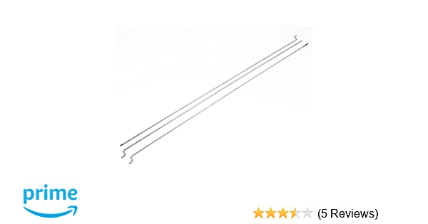3Pcs 1.5mm Dia 300mm Long Silver Stainless Steel Push Rods for RC Model Boat