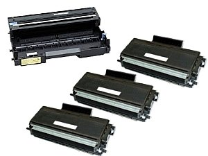 Compatible DR-520 Drum Unit + 3 x TN-580 Toner Cartridges for MFC 8460N 8660DN 8670DN 8860DN 8870DW HL 5240 5250DN 5250DNT 5280DW DCP 8060 8065DN