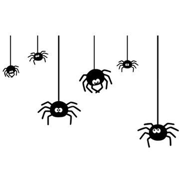 Ponis-Limos Spider Wall Sticker Man Reality Removable Decal - 1PCs ()
