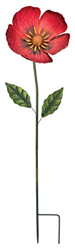 Regal Art & Gift 36' Flower Stake - Poppy