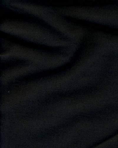 Leda Black Solid Decorative Craft/Dress Making Solid Fabric