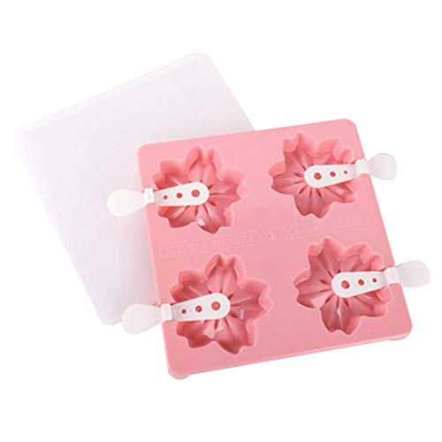 Labu Store Paw Strawberry Cherry Flower Shape Ice Cream Molds Popsicle Molds Popsicle Maker DIY Ice Cream Tool