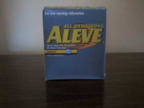 Aleve Naproxen Sodium 220 mg 48 Pouches (Packets) of 1 Tablet