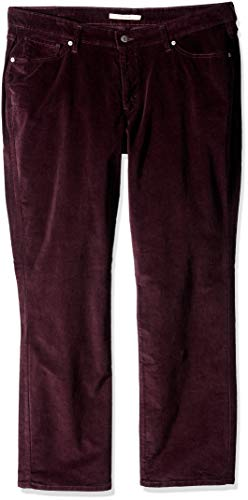 Stretch Cord Pant - Levi's Women's Plus-Size 414 Classic Straight Jean's, Soft cali Plum Cord, 40 (US 20) R