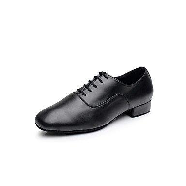 Silencio @ hombre zapatos de baile latino/salón de baile de cuero sintético piel sintética tacón bajo heelprofessional/interior/rendimiento/práctica blanco