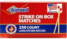 Diamond Large Kitchen Matches - 250 Count (3pack)