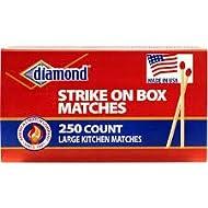Diamond Strike on Box Matches - Large Kitchen Matches - 250 Count