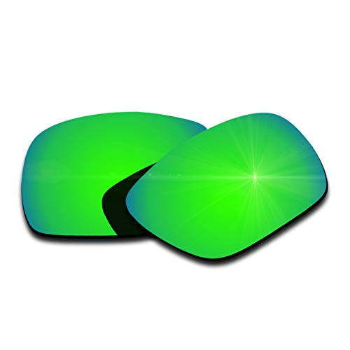 Polarized Replacement Lenses for Oakley Dispatch 1 - Green Mirrored Coating