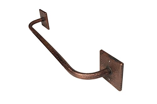 Premier Copper Products TR18DB 18-Inch Hand Hammered Copper Towel Bar, Oil Rubbed Bronze by Premier Copper Products (Image #1)