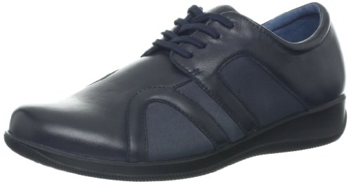 Softwalk Women's Topeka Flat,Navy,8 WW US