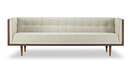 Kardiel Woodrow Midcentury Modern Box Sofa, Urban Hemp Twill