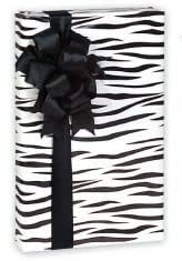 Trendy Boutique Black & White Zebra Striped Gift Wrap Wrapping Paper 16 Foot Roll