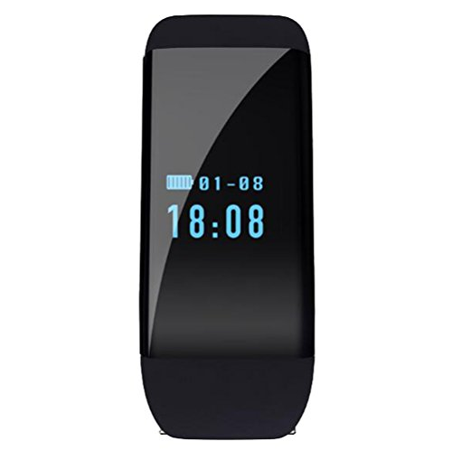 Unisex Heart Rate Smart Watch Bluetooth Touch Screen For Ios/Android Smartphone Intelligent Silicone Wristband - Card Tiffany Charge