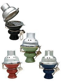 Smoke Mart Zebra Large Ceramic Hookah Bowl with Wind Cover,(Colors may vary) (Buy Rug Zebra)